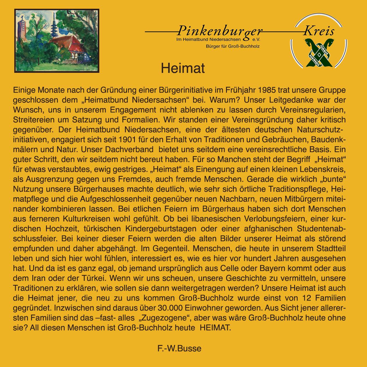 Ein Essay von Friedrich-Wilhelm Busse zum Thema Heimat